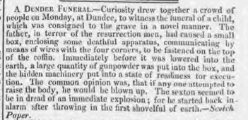 A Dundee Funeral Morning Chronicle Thursday 31 July 1823