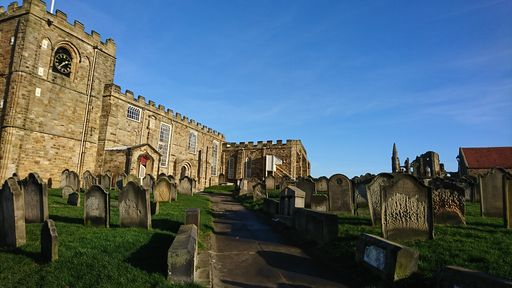 St Mary's Church, Whitby, North Yorkshire.  The 'home' of Dracula