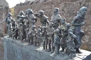 Bronze Sculpture commemorating Eyemouth Disaster Black Friday 1881