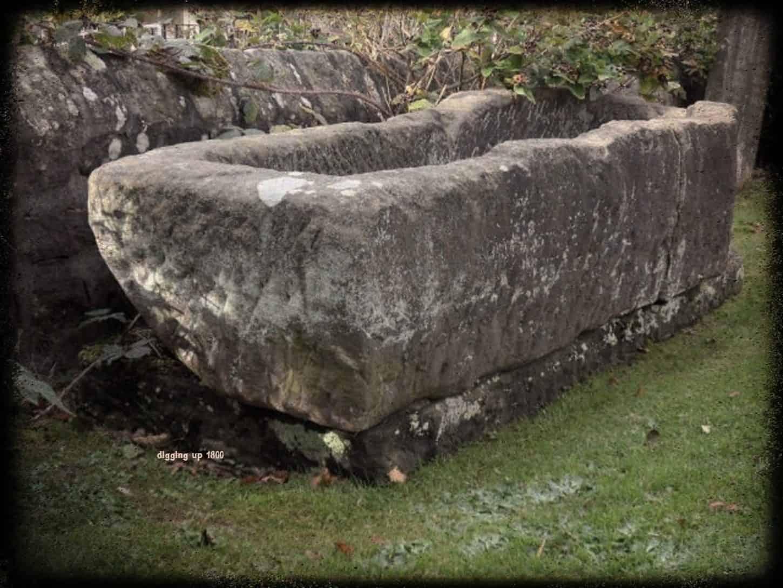 Mortstone or 'Resurrection Stone' at St Roberts Church Pannal North Yorkshire