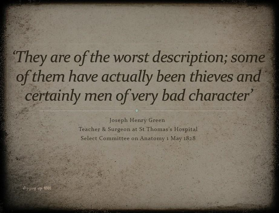 Slide from Talk on body snatcher Thomas Vaughan by Suzie Lennox