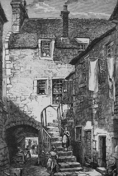Ballantyne's Land Grassmarket Edinburgh From Volume 4 Page 229 of Old and New Edinburgh (Published by Cassell and Company in 1880)