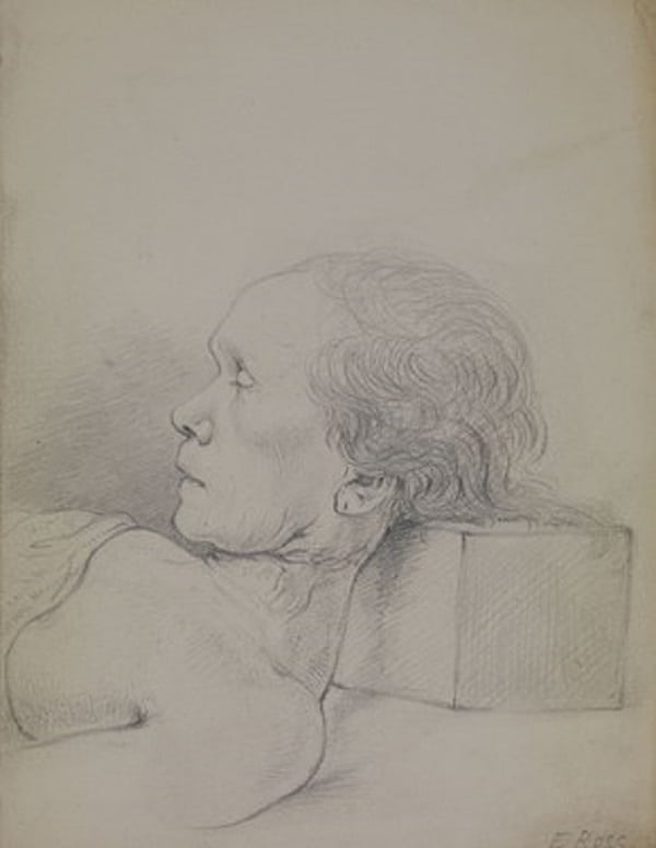 William Clift drawing of Eliza Ross via Royal College of Surgeons, England