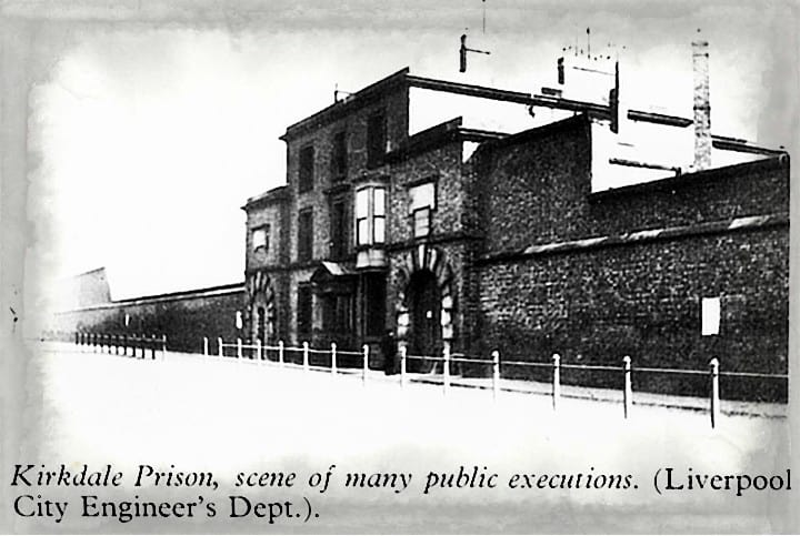 Kirkdale Prison, Liverpool where body snatchers of the Hope Street Affair 1826 were imprisoned