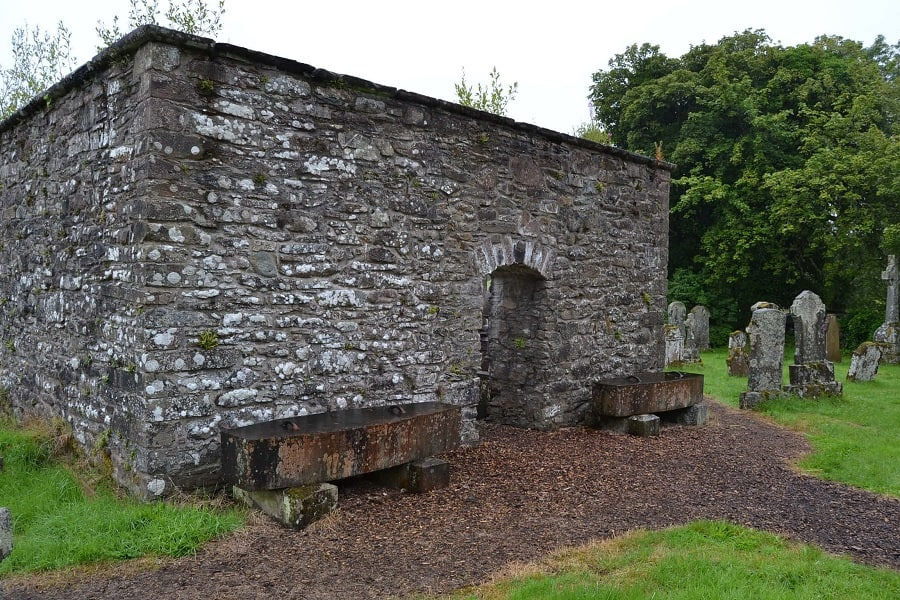 Mortsafes at Aberfoyle Kirk Stirlingshire