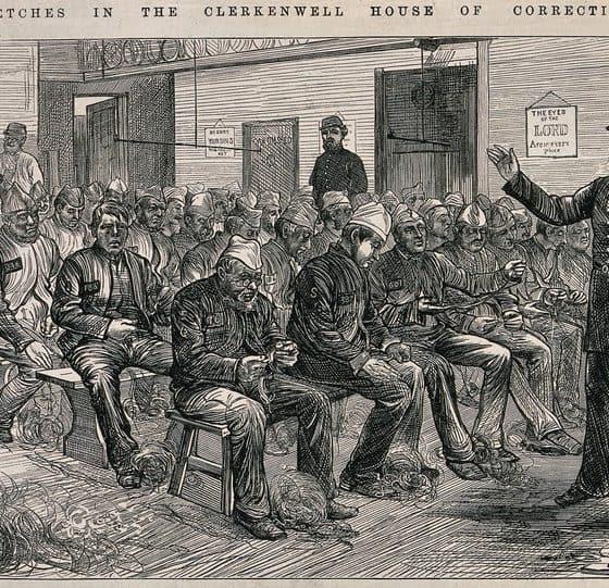 Men Picking Okum at Clerkenwell House of Correction