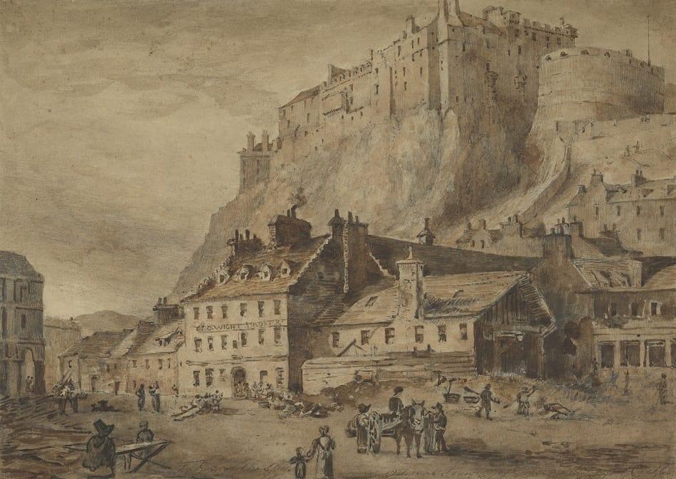 Edinburgh From The Grass Market John Francis Williams Via National Galleries Scotland