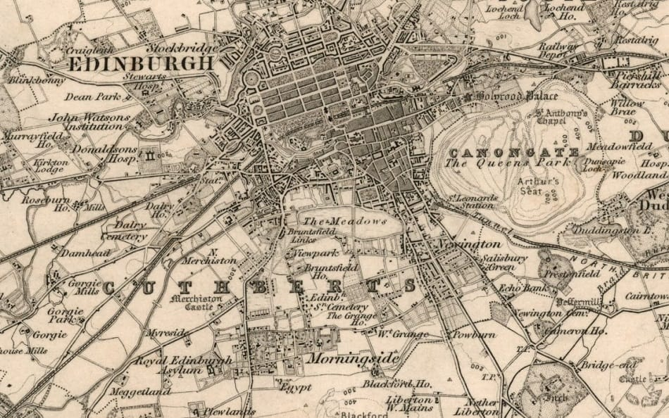 Map of Old Edinburgh