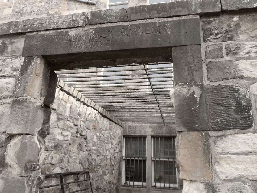 Caged lair of William Inglis Surgeon Greyfriars Kirkyard Edinburgh
