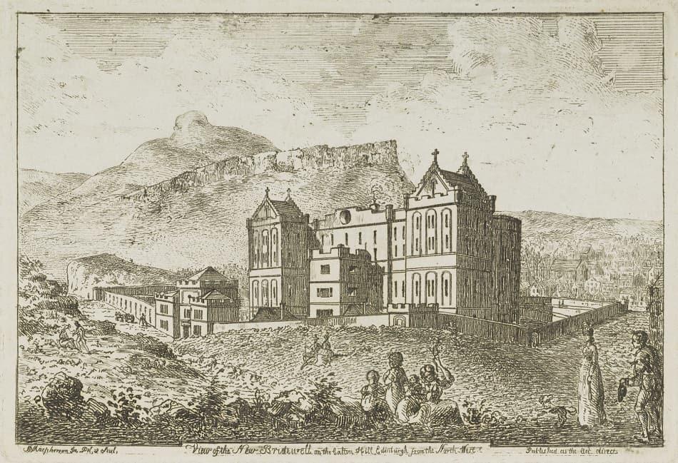 A view of the new Bridewell on Calton Hill Edinburgh via National Galleries, Scotland